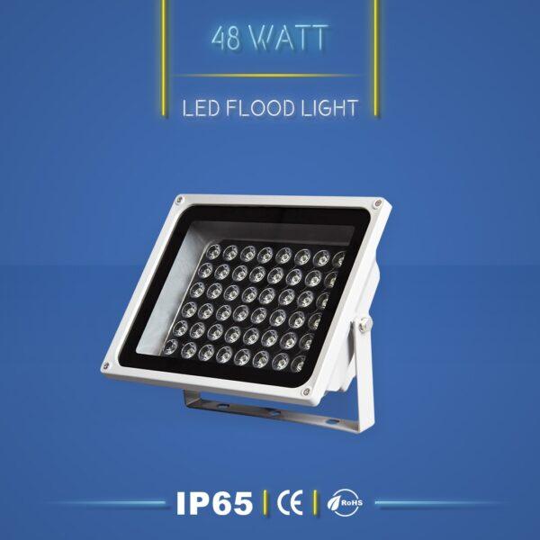 پروژکتور ال ای دی 48 وات نورنگار ، برای نورپردازی نما و روشنایی محوطه ها مناسب است. پروژکتور ال ای دی 48 وات در چهار مدل تک رنگ ، مولتی کالر ، RGB و DMX تولید می شود. شرکت نورنگار ، پروژکتور ال ای دی 48 وات را به صورت سفارشی ، با توجه به نوع پروژه نورپردازی و با پخش نور اختصاصی تولید میکند. پروژکتور ال ای دی 48 وات نورنگار دارای استاندارد ضد آب IP65 است و 18 ماه گارانتی دارد.