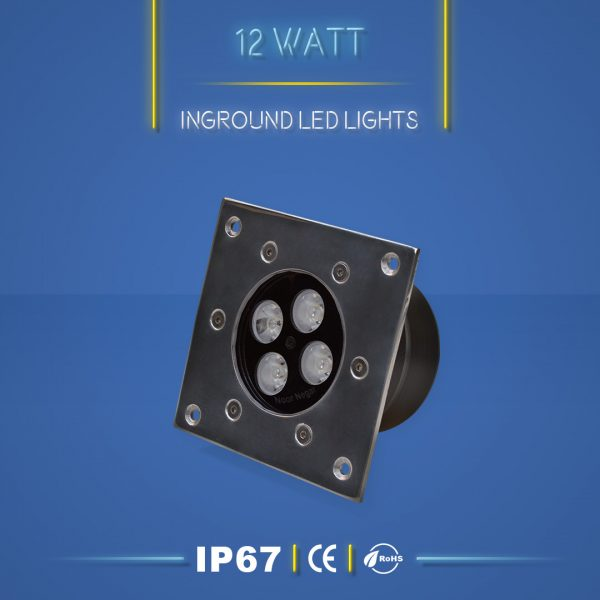 چراغ دفنی 12 وات نورنگار ، برای نورپردازی نما ، ستون ، درختچه ، راهرو و راه پله و روشنایی محوطه ها مناسب است. چراغ دفنی 12 وات در چهار مدل تک رنگ ، مولتی کالر ، RGB و DMX تولید می شود. شرکت نورنگار ، چراغ دفنی 12 وات را به صورت سفارشی ، با توجه به نوع پروژه نورپردازی و با پخش نور اختصاصی تولید میکند.چراغ دفنی 12 وات نورنگار دارای استاندارد ضد آب IP67 ( و به سفارش مشتری IP68 ) است و دارای 18 ماه گارانتی است .