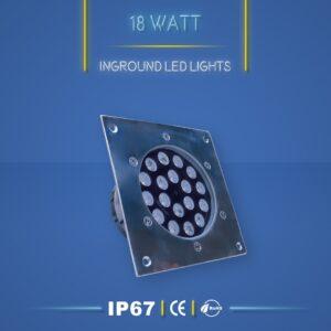 چراغ دفنی 18 وات نورنگار IP67 در سه مدل تک رنگ RGB و DMX ضد آب