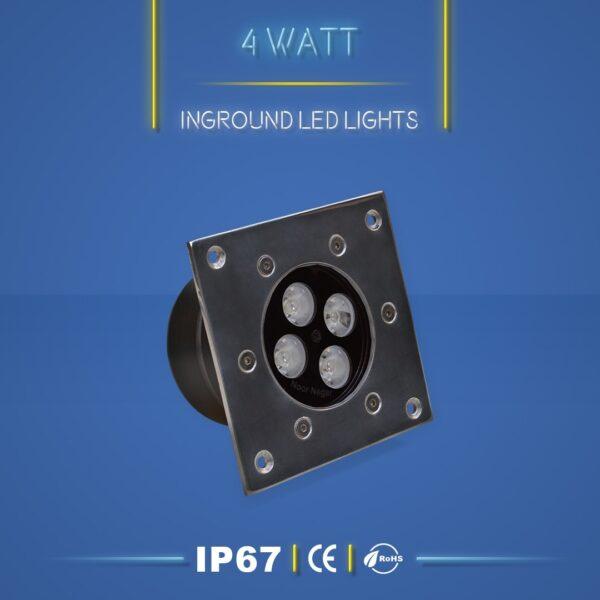 چراغ دفنی 4 وات نورنگار ، برای نورپردازی نما ، ستون ، درختچه ، راهرو و راه پله و روشنایی محوطه ها مناسب است. چراغ دفنی 4 وات در چهار مدل تک رنگ ، مولتی کالر ، RGB و DMX تولید می شود. شرکت نورنگار ، چراغ دفنی 4 وات را به صورت سفارشی ، با توجه به نوع پروژه نورپردازی و با پخش نور اختصاصی تولید میکند.چراغ دفنی 4 وات نورنگار دارای استاندارد ضد آب IP67 ( و به سفارش مشتری IP68 ) است و دارای 18 ماه گارانتی است .