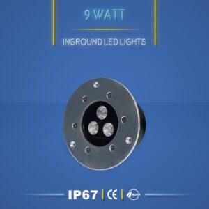 چراغ دفنی 9 وات نورنگار ، برای نورپردازی نما ، ستون ، درختچه ، راهرو و راه پله و روشنایی محوطه ها مناسب است. چراغ دفنی 9 وات در چهار مدل تک رنگ ، مولتی کالر ، RGB و DMX تولید می شود. شرکت نورنگار ، چراغ دفنی 9 وات را به صورت سفارشی ، با توجه به نوع پروژه نورپردازی و با پخش نور اختصاصی تولید میکند.چراغ دفنی 9 وات نورنگار دارای استاندارد ضد آب IP67 ( و به سفارش مشتری IP68 ) است و دارای 18 ماه گارانتی است .