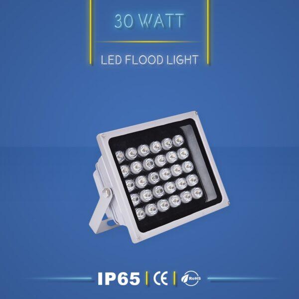 پروژکتور ال ای دی 30 وات نورنگار ، برای نورپردازی نما و روشنایی محوطه ها مناسب است. پروژکتور ال ای دی 30 وات در چهار مدل تک رنگ ، مولتی کالر ، RGB و DMX تولید می شود. شرکت نورنگار ، پروژکتور ال ای دی 30 وات را به صورت سفارشی ، با توجه به نوع پروژه نورپردازی و با پخش نور اختصاصی تولید میکند. پروژکتور ال ای دی 30وات نورنگار دارای استاندارد ضد آب IP65 است و 18 ماه گارانتی دارد.