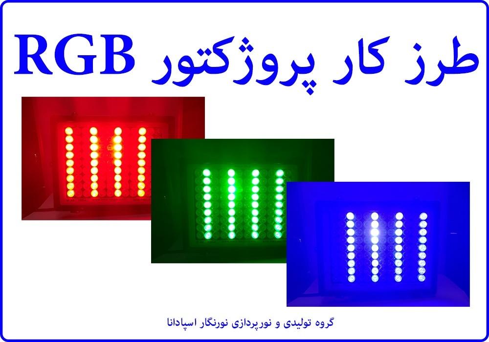 پروژکتور RGB می تواند تمام رنگ ها را بسازد. این کار توسط تکنیک PWM انجام می شود. برای پی بردن به طرز کار این پروژکتور ال ای دی ، باید با مدار PWM آشنا شویم.